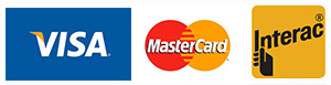 Visa, MasterCard or Interac